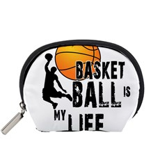 Basketball is my life Accessory Pouches (Small)