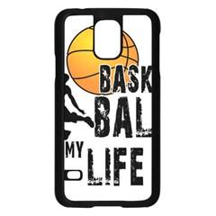 Basketball is my life Samsung Galaxy S5 Case (Black)
