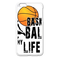 Basketball is my life Apple iPhone 6 Plus/6S Plus Enamel White Case
