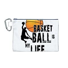 Basketball is my life Canvas Cosmetic Bag (M)