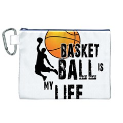 Basketball is my life Canvas Cosmetic Bag (XL)