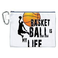 Basketball is my life Canvas Cosmetic Bag (XXL)