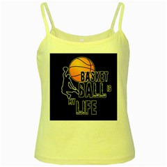Basketball is my life Yellow Spaghetti Tank