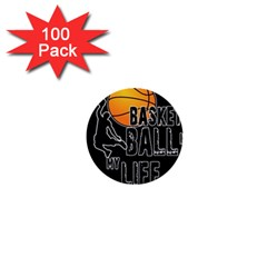 Basketball is my life 1  Mini Buttons (100 pack)