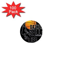 Basketball is my life 1  Mini Magnets (100 pack)