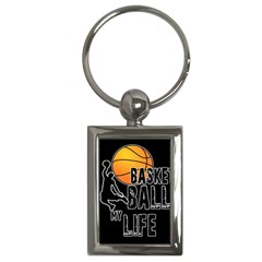 Basketball is my life Key Chains (Rectangle)