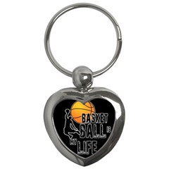 Basketball is my life Key Chains (Heart)
