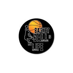 Basketball is my life Golf Ball Marker