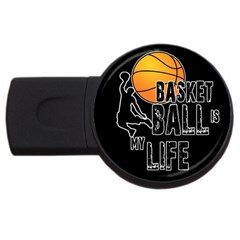 Basketball is my life USB Flash Drive Round (1 GB)