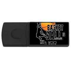 Basketball is my life USB Flash Drive Rectangular (1 GB)