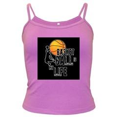 Basketball is my life Dark Spaghetti Tank