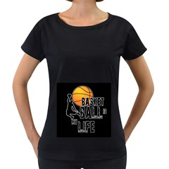 Basketball is my life Women s Loose-Fit T-Shirt (Black)