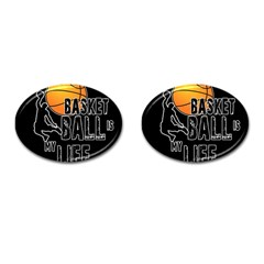 Basketball is my life Cufflinks (Oval)