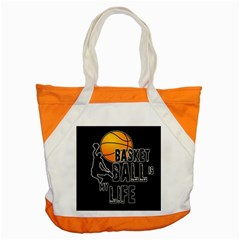 Basketball is my life Accent Tote Bag
