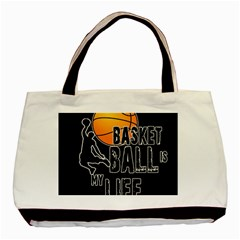 Basketball is my life Basic Tote Bag (Two Sides)