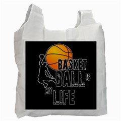 Basketball is my life Recycle Bag (Two Side)