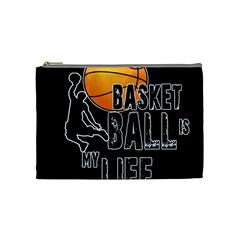 Basketball is my life Cosmetic Bag (Medium)