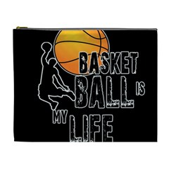 Basketball is my life Cosmetic Bag (XL)