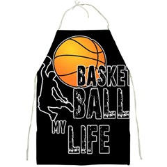 Basketball is my life Full Print Aprons