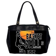 Basketball is my life Office Handbags (2 Sides)