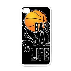 Basketball is my life Apple iPhone 4 Case (White)