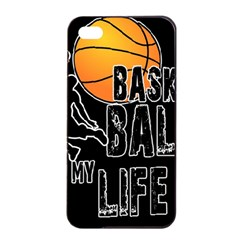 Basketball is my life Apple iPhone 4/4s Seamless Case (Black)