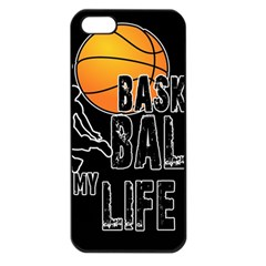Basketball is my life Apple iPhone 5 Seamless Case (Black)