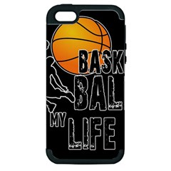 Basketball is my life Apple iPhone 5 Hardshell Case (PC+Silicone)