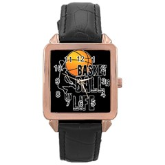 Basketball is my life Rose Gold Leather Watch