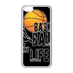 Basketball is my life Apple iPhone 5C Seamless Case (White)