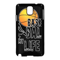 Basketball is my life Samsung Galaxy Note 3 Neo Hardshell Case (Black)