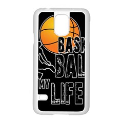 Basketball is my life Samsung Galaxy S5 Case (White)