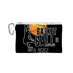 Basketball is my life Canvas Cosmetic Bag (S)