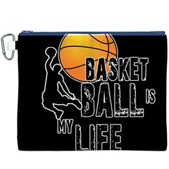 Basketball is my life Canvas Cosmetic Bag (XXXL)