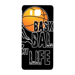 Basketball is my life Samsung Galaxy Alpha Hardshell Back Case