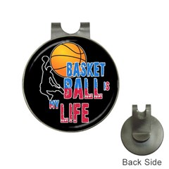 Basketball is my life Hat Clips with Golf Markers