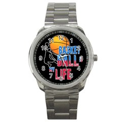 Basketball is my life Sport Metal Watch