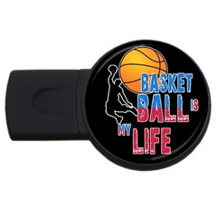 Basketball is my life USB Flash Drive Round (4 GB)