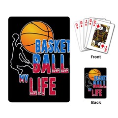 Basketball is my life Playing Card
