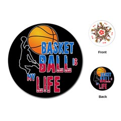 Basketball is my life Playing Cards (Round)