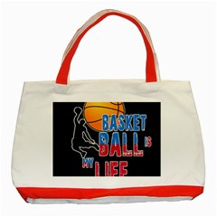 Basketball is my life Classic Tote Bag (Red)