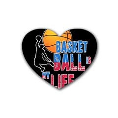Basketball is my life Heart Coaster (4 pack)