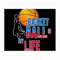 Basketball is my life Small Glasses Cloth (2-Side)