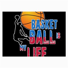 Basketball is my life Large Glasses Cloth