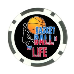 Basketball is my life Poker Chip Card Guard