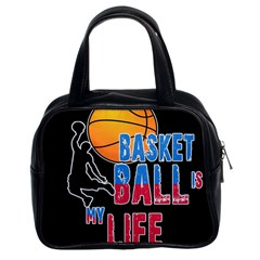 Basketball is my life Classic Handbags (2 Sides)