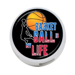 Basketball is my life 4-Port USB Hub (Two Sides)