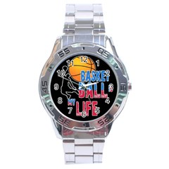 Basketball is my life Stainless Steel Analogue Watch