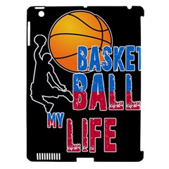 Basketball is my life Apple iPad 3/4 Hardshell Case (Compatible with Smart Cover)