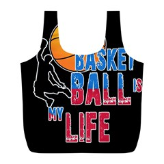 Basketball is my life Full Print Recycle Bags (L)